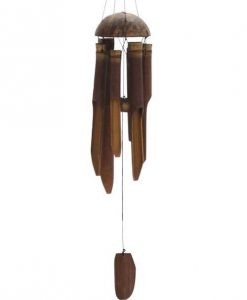 Small Bamboo Windchimes with Plain Finish 12 Inches