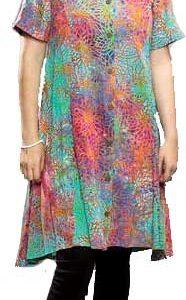Multicolor Short Island Dress