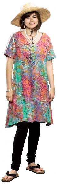 Multicolor Short Island Dress