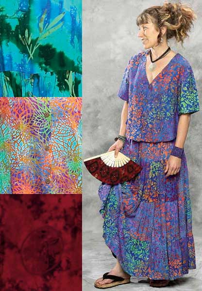 Batik Tiered Skirt