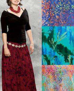 Batik Elastic Waist Skirt