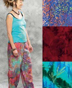 Batik Drawstring Cargo Pants
