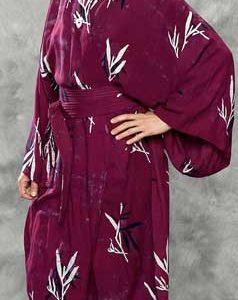 Burgundy Batik Kimono