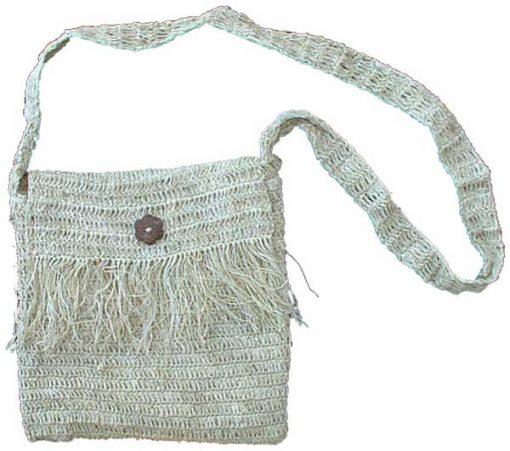 Fringed Hemp Shoulder Bag