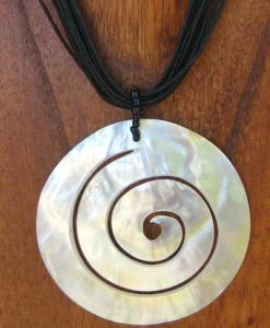 Large Spiral Shell Necklace