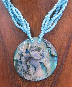 Round Abalone Shell Necklace