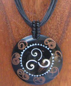 Celtic Spiral Resin Necklace
