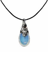 Sterling Silver & Opalized Glass Pendant