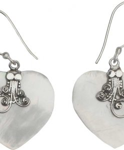 Heart Shape Mother of Pearl Earring