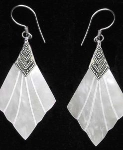 Mother of Pearl and Sterling Silver Earrings