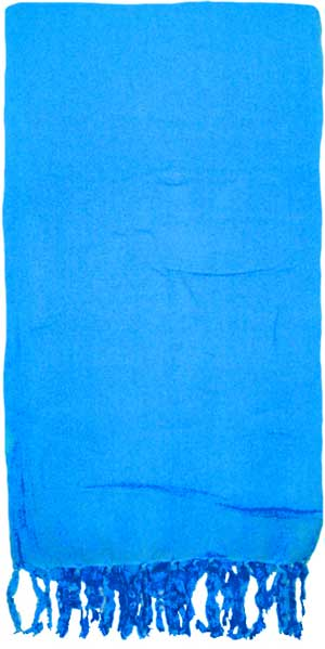 Solid Cerulean Blue Sarong
