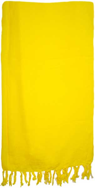 Solid Lemon Yellow Sarong
