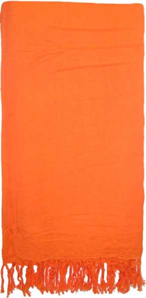 Solid Orange Sarong