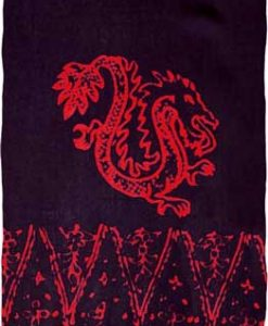 Black Sarong with Dragons