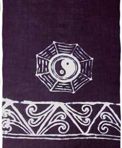 Black Sarong with White Yin Yangs