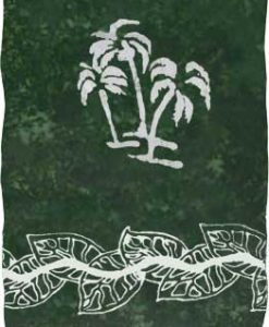 Dark Green Sarong with White Palm Trees