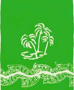 Lime Green Sarong with White Palm Trees