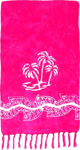 Pink Sarong with White Palm Trees