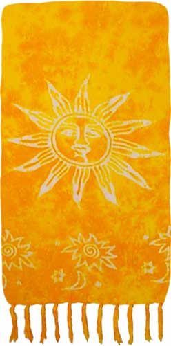 Yellow Sarong with White Suns