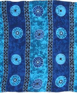 "Blue Asian Coin ""Baliku"" Sarong"
