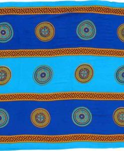 """Blue and Turquoise Asian Coin """"Baliku"""" Sarong"""