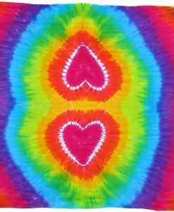 Heart Tie-Dye Sarong in Rainbow Colors