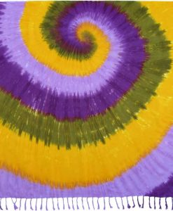 Purple, Green and Yellow Tie-Dye Sarong