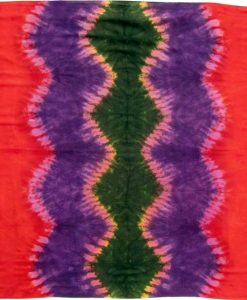 Purple, Orange and Green Tie-Dye Sarong