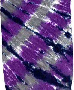 Purple and Gray Tie-Dye Sarong