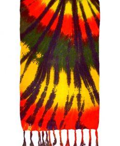Spiral Tie-Dye Rasta Sarong