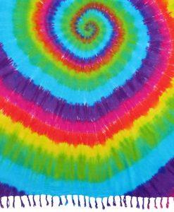 Rainbow Color Spiral Tie-Dye Sarong