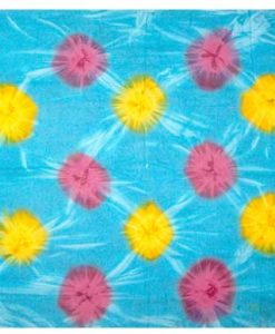 Tie-Dye Sarong in Turquoise with Yellow & Orange