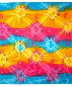 Rainbow Colored Tie-Dye Sarong
