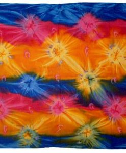 Deep Colored Rainbow Tie-Dye Sarong