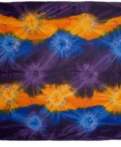 Tie-Dye Sarong in Purple, Blue & Yellow