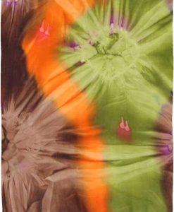 Brown, Green, & Orange Tie-Dye Sarong