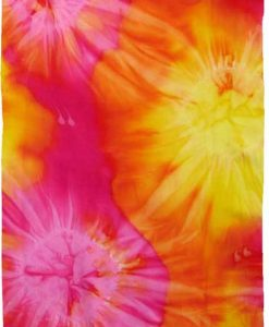 Yellow, Orange, & Pink Tie-Dye Sarong