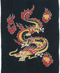 Dragon Sarong, Black Background