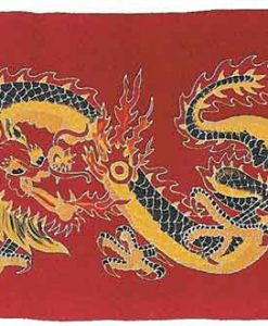 Dragon Sarong with Red Background