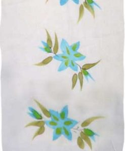 Blue Hand-Painted Flower Sarong