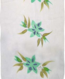 Green Hand-Painted Flower Sarong