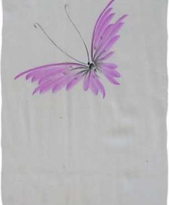 Purple Hand-Painted Butterfly Sarong
