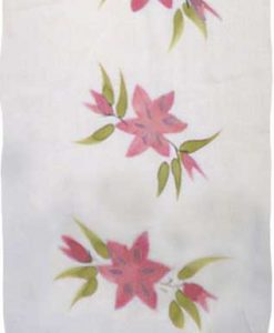 Red Hand-Painted Flower Sarong