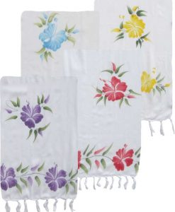 Hand-Painted Flower Sarong