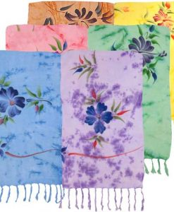 Pastel Hand-Painted Flower Sarong