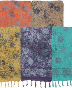 Eight-Pointed Flower Batik Sarong