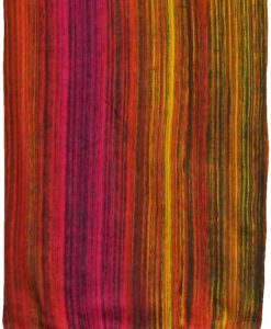 Fuchsia, Red & Yellow Stripes Sarong