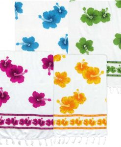 White Floral Print Sarong
