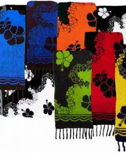 Diagonal Reverse Floral Print Sarong