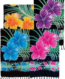 Hibiscus and Palm Print Sarong